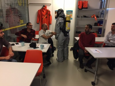 USING BREATHING APPARATUS WITH LIGHT CHEMICAL SUIT 2